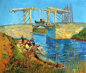 van Gogh (Vincent) The Langlois Bridge at Arles 1888